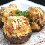 Savory Scallop-Stuffed Mushrooms