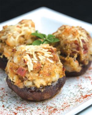 Savory Scallop-Stuffed Mushrooms